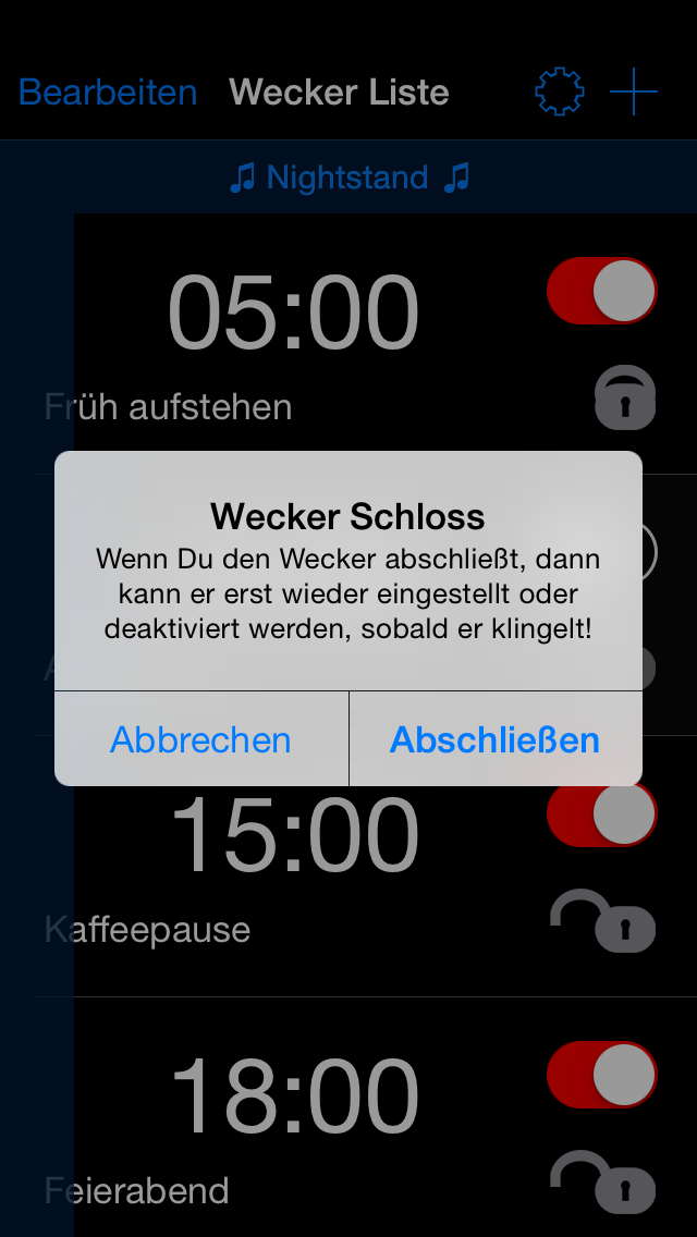 Verschließbarer Wecker – Black Edition - iphone1
