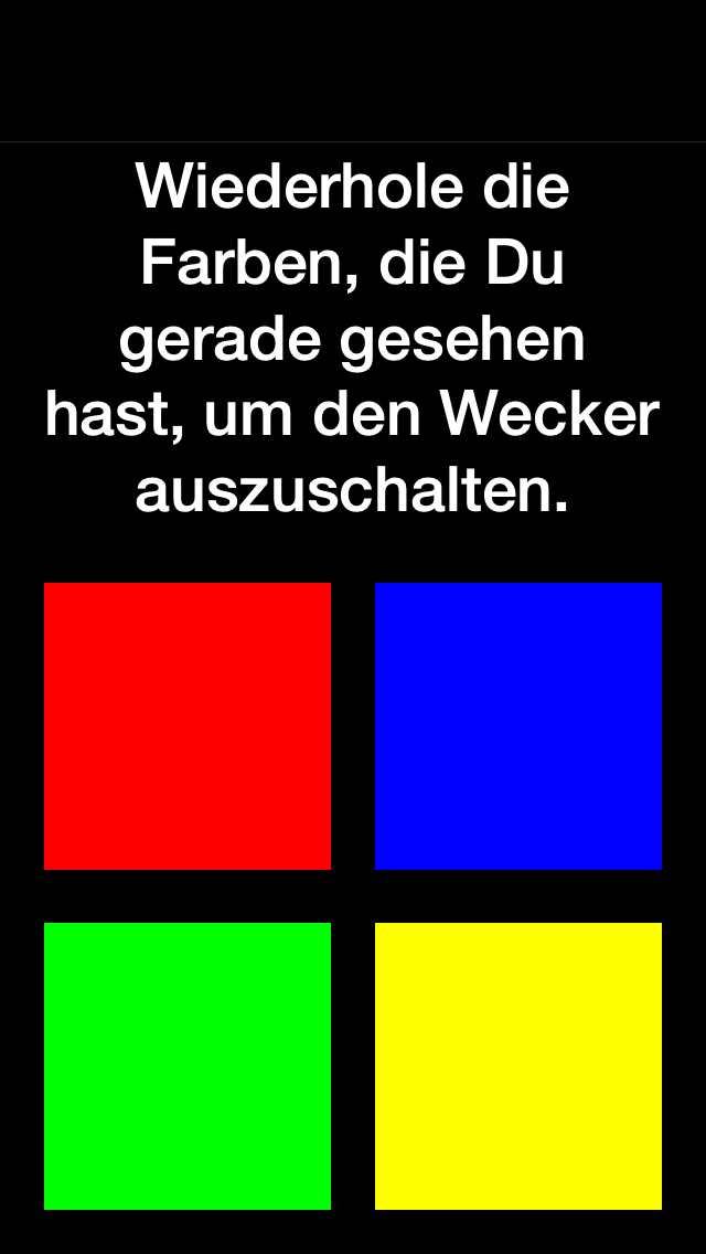 Gedächtnis Wecker – Black Edition - iphone1
