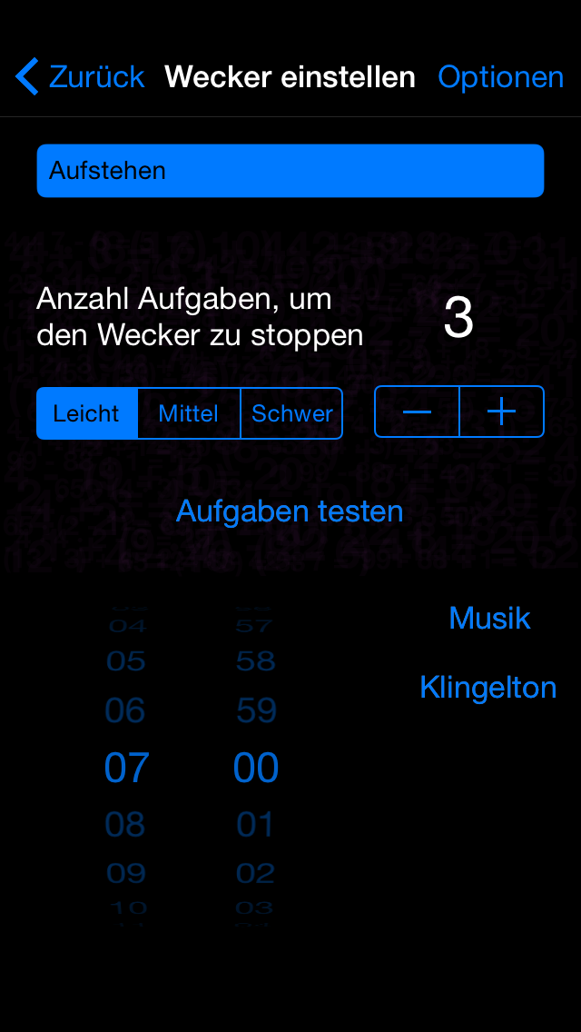 Mathe Wecker – Black Edition - iphone1