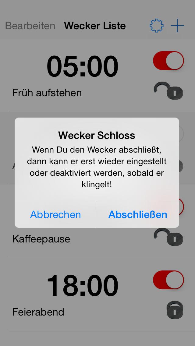 Verschließbarer Wecker - iphone1