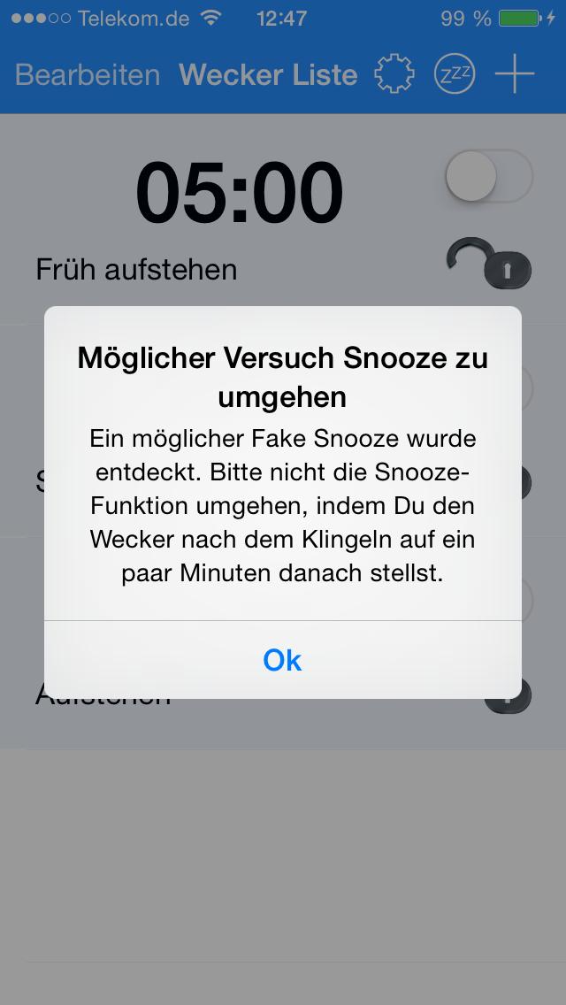 Snooze U Pay - iphone1