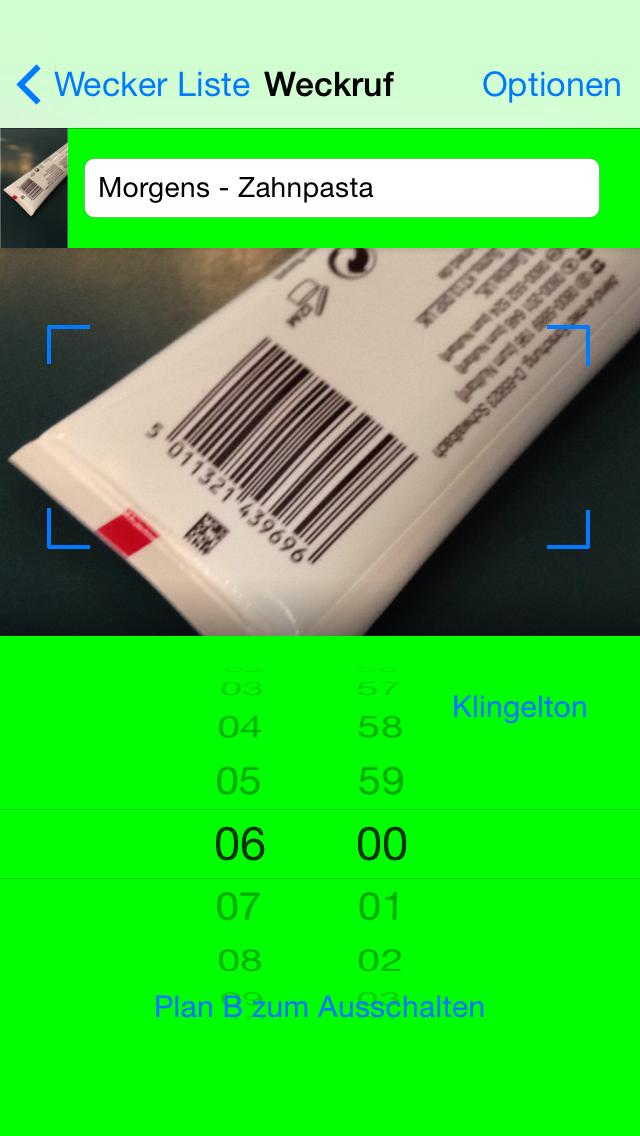 Barcode Wecker – zwingt Dich aus dem Bett - iphone1
