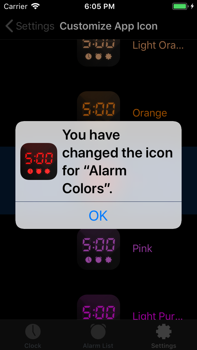 Alarm Clock Colors - iphone1